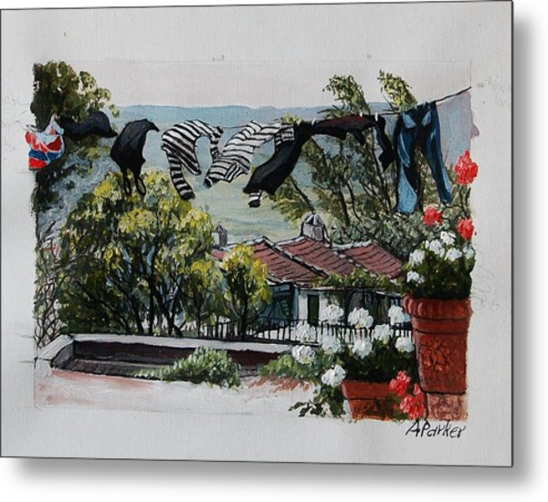 Blowing In The Wind Metal Print by Anne Parker
