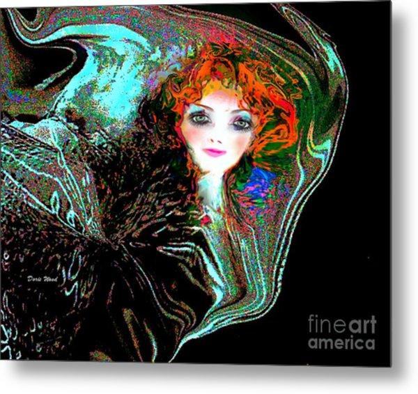 Blowing In The Wind Metal Print by Doris Wood