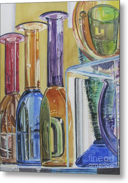 Blown Glass Metal Print