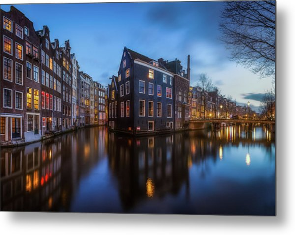 Blue Amsterdam Metal Print by Clara Gamito