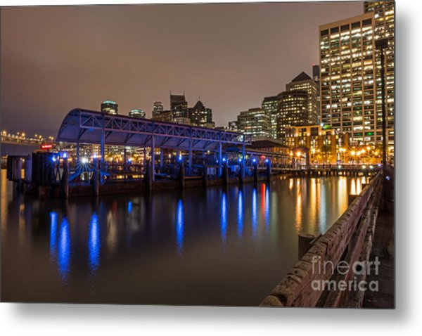 Metal Print featuring the photograph Blue And Gold Night by Kate Brown