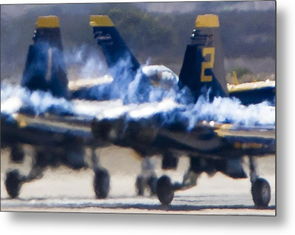 Blue Angels Ready For Takeoff Metal Print