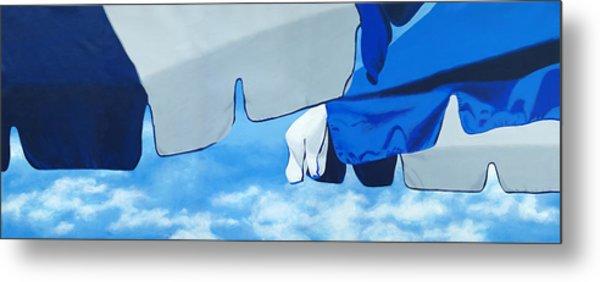 Blue Beach Umbrellas 2 Metal Print