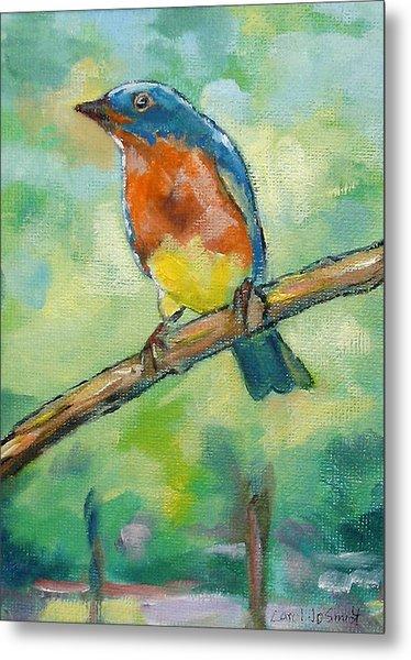 Blue Bird 2 Metal Print