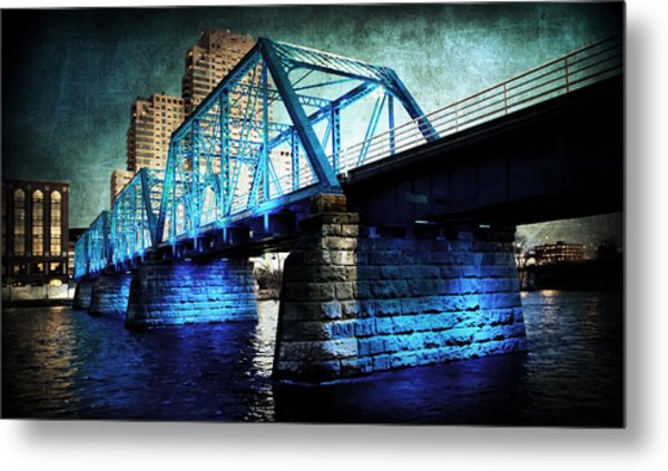 Blue Bridge Metal Print