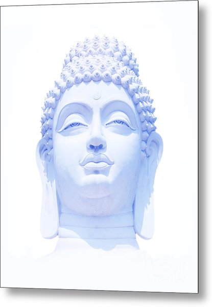 Blue Buddha Metal Print by Tim Gainey