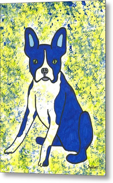 Blue Bulldog Metal Print