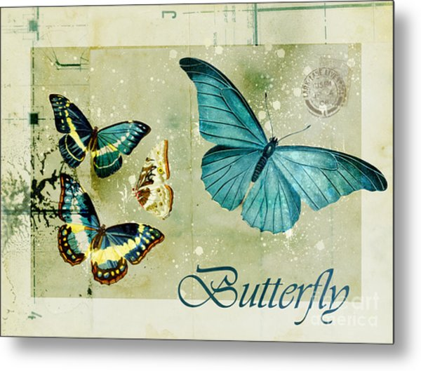 Blue Butterfly - S55c01 Metal Print