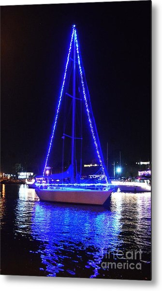 Metal Print featuring the photograph Blue Christmas  by Laurie Lundquist