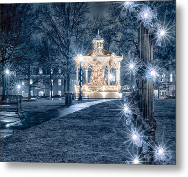 Blue Christmas Metal Print