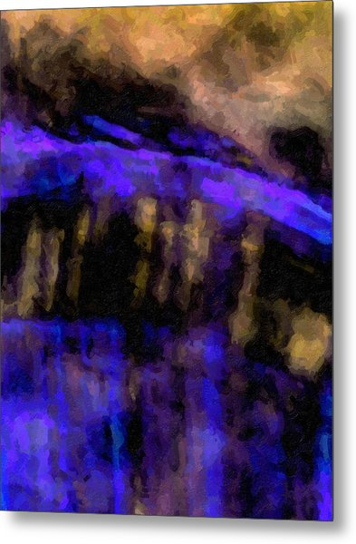 Blue Cliff Metal Print