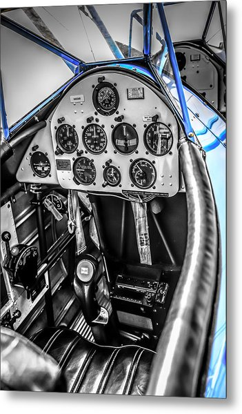 Blue Cockpit Metal Print