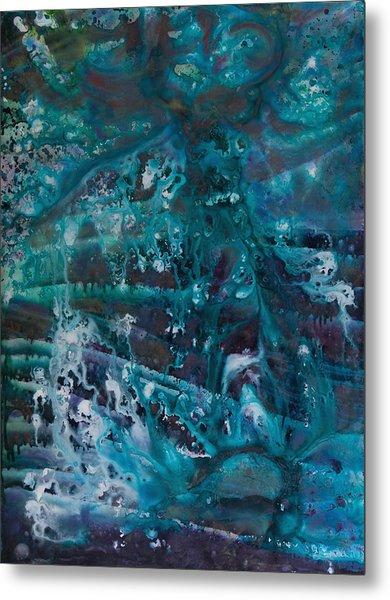 Blue Cosmos II Metal Print