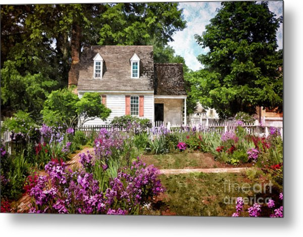Blue Cottage Metal Print