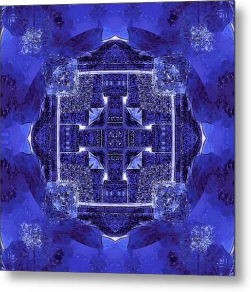 Blue Cross Radiance Metal Print