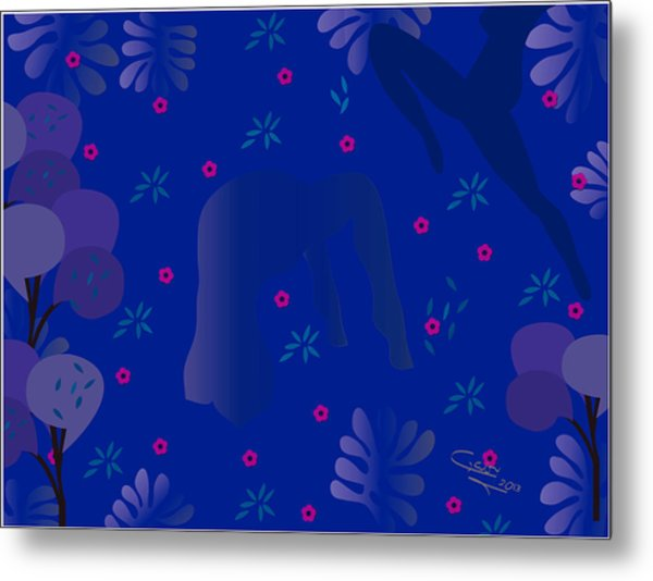 Blue Dance - Limited Edition  Of 30 Metal Print