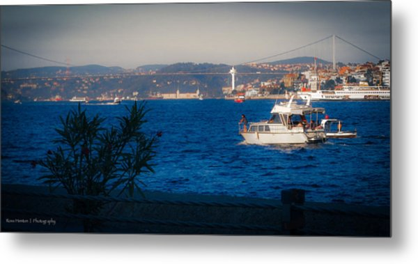 Blue Dawn On The Bosphorus Metal Print