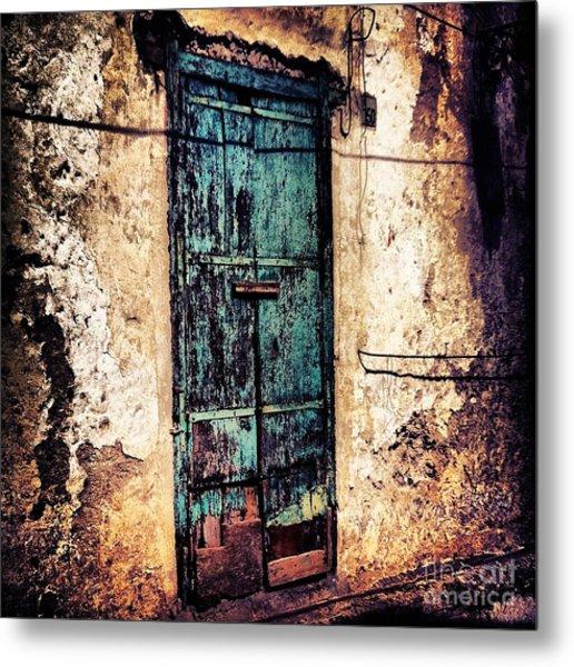 Blue Door Metal Print by H Hoffman