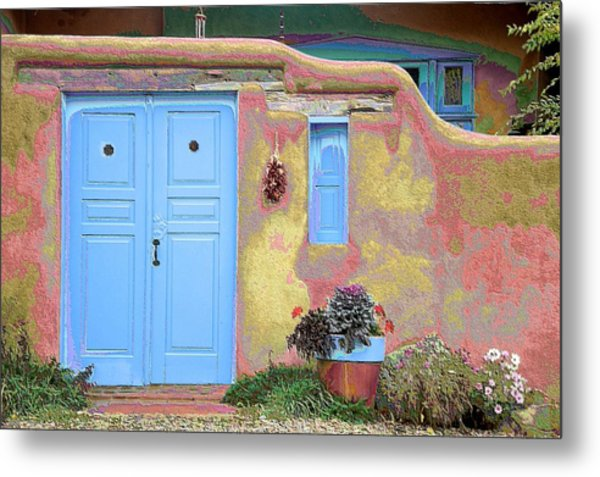 Blue Door In Ranchos Metal Print