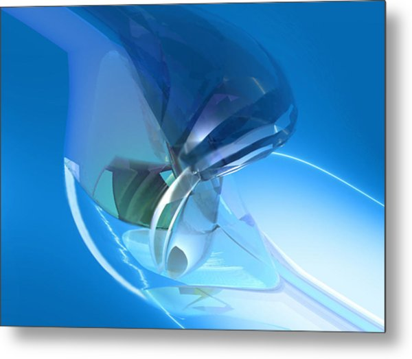 Blue Dreams Of Time Travel Metal Print by Stephen Donoho