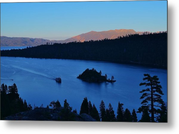Blue Emerald Bay Lake Tahoe Metal Print