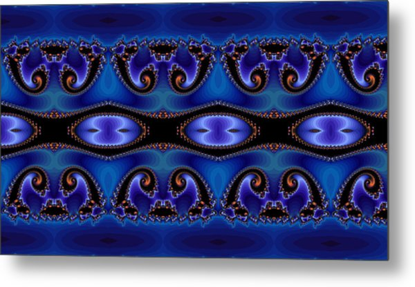 Blue Energy Abstract Metal Print by Sabre Tooth