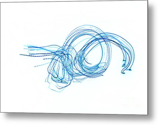 Blue Escargot Abstract Metal Print by George Zhouf