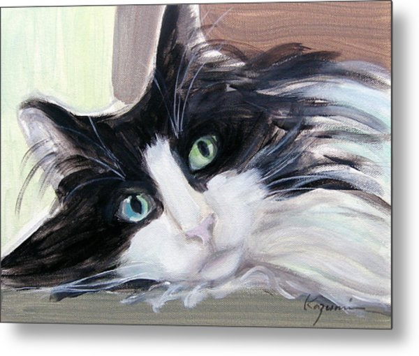 Blue Eye And Green Eye Metal Print