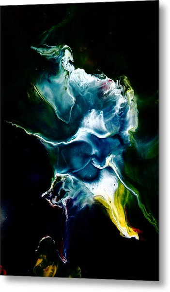 Blue Firefly Abstract Metal Print