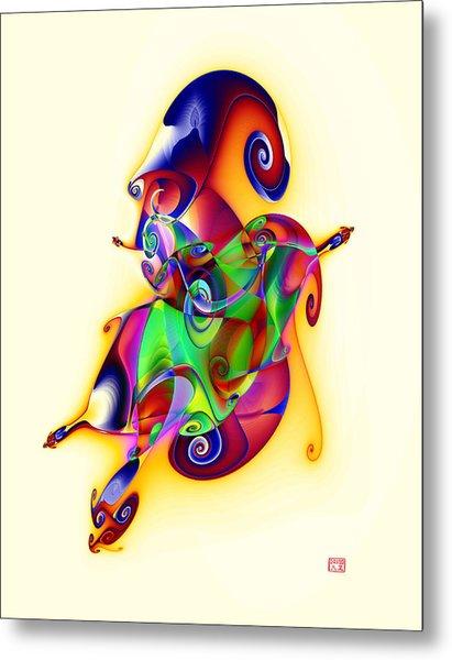 Blue Flame In A Maze Metal Print