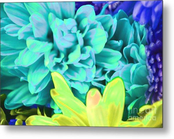 Blue Flower Metal Print by LLaura Burge