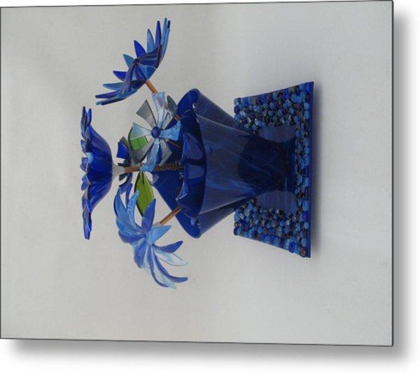 Blue Flowers Metal Print by Steven Schramek