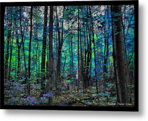 Blue Forrest Metal Print