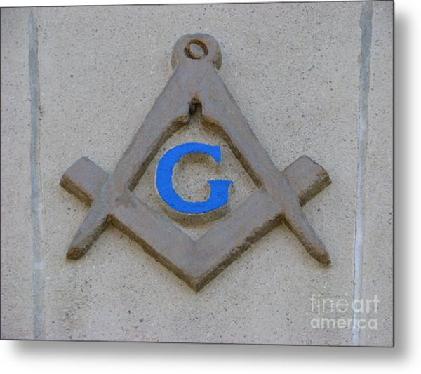 Blue G Metal Print