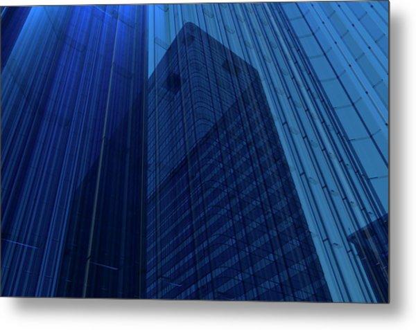 Blue Glass Building Metal Print by Mmdi