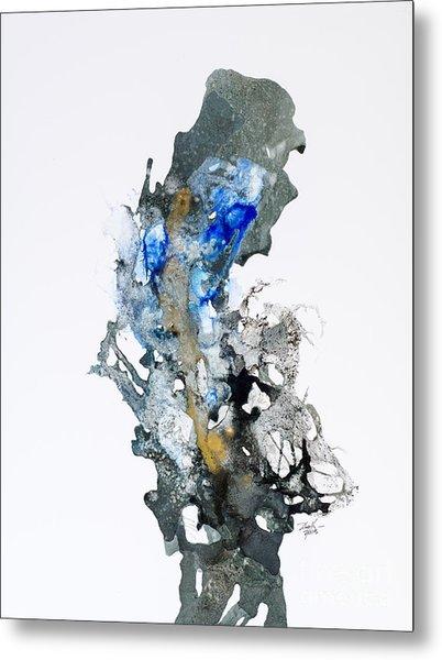 Blue-gold 04 Metal Print by David W Coffin