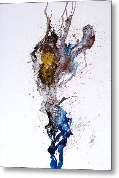 Blue-gold 06 Metal Print by David W Coffin