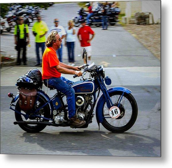 Blue Harley 46 Metal Print