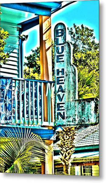 Blue Heaven In Key West - 1 Metal Print