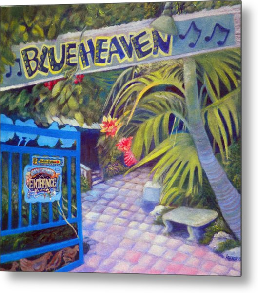 Blue Heaven New View Metal Print