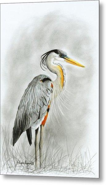 Blue Heron 3 Metal Print