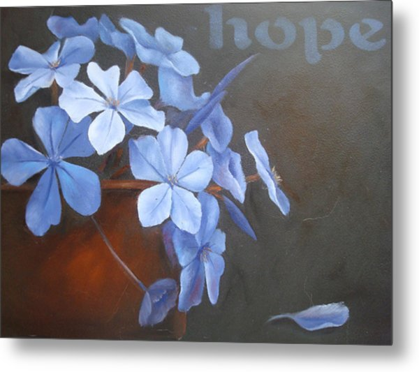 Blue Hope Metal Print by Sharron White