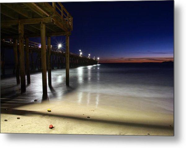 Blue Hour At Port Hueneme Pier Metal Print