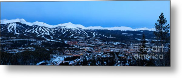 Blue Hour In Breckenridge Metal Print