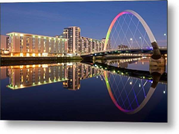 Blue Hour In Glasgow Metal Print