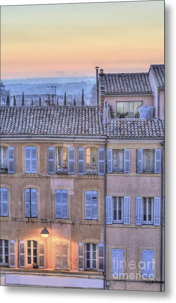 Blue Hour In Provence Metal Print