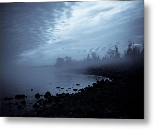 Blue Hour Mist Metal Print