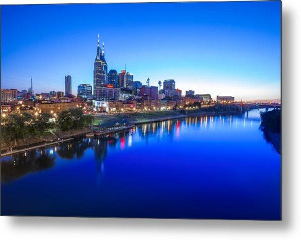 Blue Hour Over Nashville Metal Print