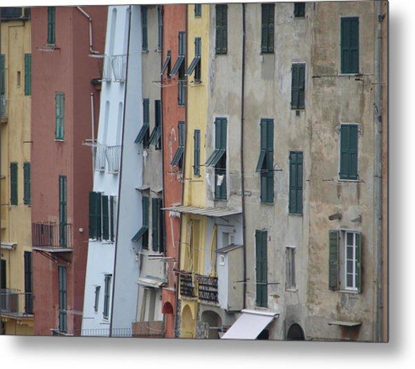 Blue House Portovenere Italy Metal Print