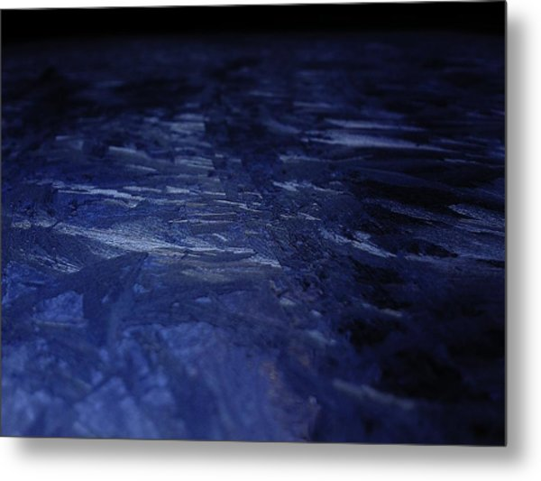 Blue Ice Planet Metal Print by Jaime Neo